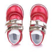 Детские лакированные ботинки для девочки (красный)