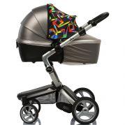 Двойной защитный козырек в коляску + бежевой москитная сетка Must Have Shade (геометрия)