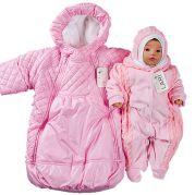 """Набор на выписку для новорожденной девочки """"Снежинка"""" (розовый)"""