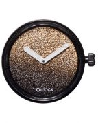 Циферблат O clock Gold and Silver Glitter Золото