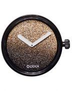 Циферблат O clock Gold and Silver Glitter Золото