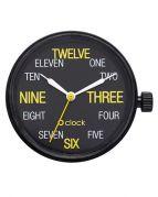 Циферблат O clock Words Numbers Черный
