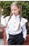 Школьная рубашка с контрастными пуговицами