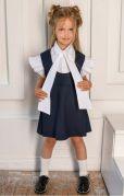 Школьный сарафан в школу для девочек (синий)