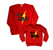 "Комплект #папасын свитшоты Family look ""Super dad, son"""