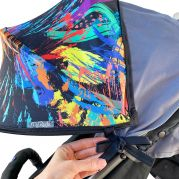 Защитный двухсекционный козырёк для коляски Twin Shade (краски)