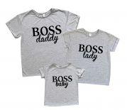 """Набор футболок для """"Baby Boss"""" и его родителей"""