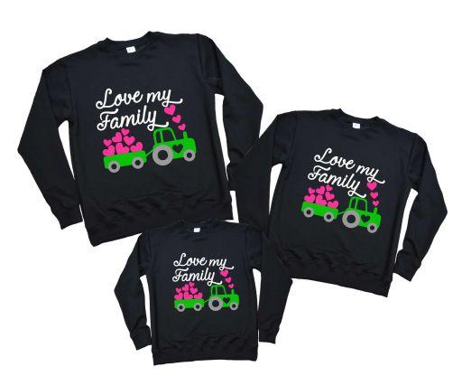 """Свитшоты набором фемели лук """"LOVE MY FAMILY"""" 3 шт."""