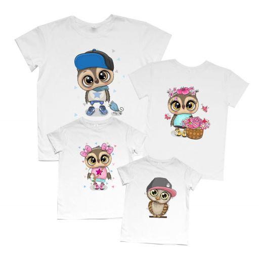 """Набор для семьи футболки Family look """"Совы"""""""