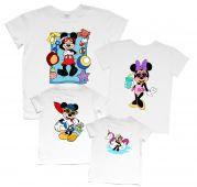 """Семейный набор футболок с летним принтом """"Микки на море"""""""