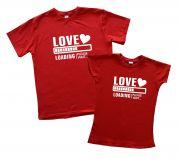 "Пара футболок для подарка любимым ""LOVE"""