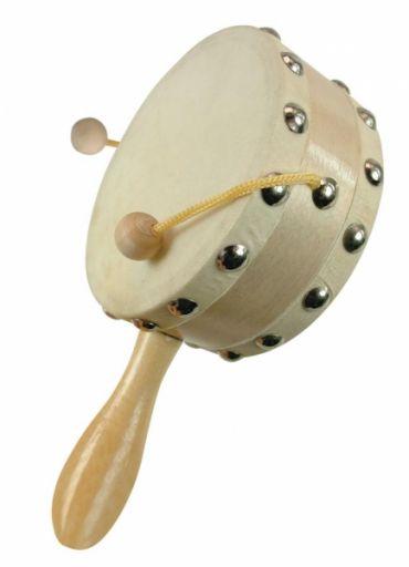 Детский барабан с ручкой