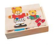 Пазл в коробке гардероб медведицы и медвежонка
