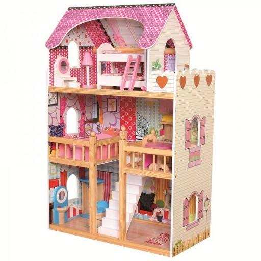 Кукольный домик с мебелью на 3 этажа