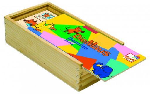 Деревянная настольная игра домино МЫШКИ
