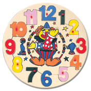 Пазл часы с клоуном