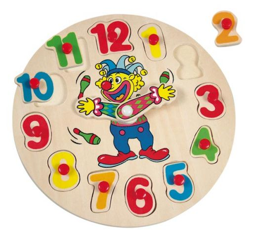 Пазл часы с клоуном mini