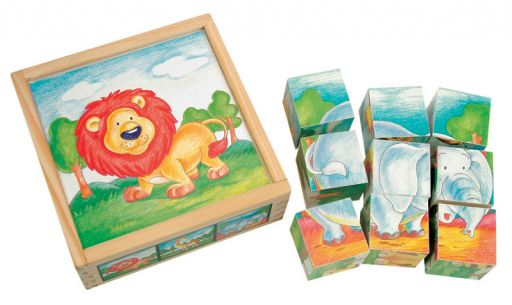"Кубики из дерева, собери картинку ""Животные"""