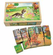 """Кубики в коробке, собери рисунок """"Домашние животные"""""""