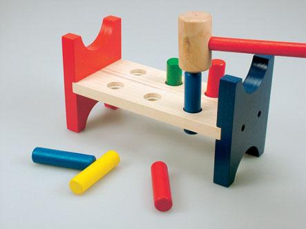 Детская деревянная стучалка цветная