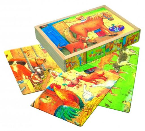 "Пазлы в коробке ""Животные фермы"""