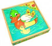"""Деревянные детские кубики в коробке """"Животные"""""""