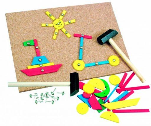 Игра для детей с молоточком (229 деталей)