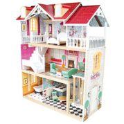 Кукольный домик с мебелью в 3 этажа (большой)