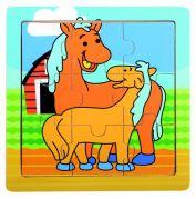 Пазл деревянный для маленьких деток (лошадка)