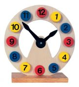 Детские деревянные настольные часы