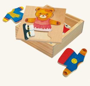 Деревянный пазл гардероб медведицы
