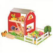 Игрушечный дом ферма с набором животных