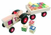 Трактор - кубики АЛФАВИТ (англ.)