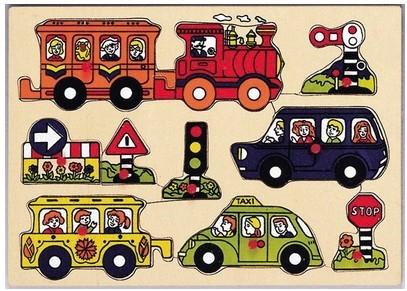 Пазл дорожное движение