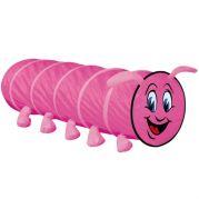 Игровая палатка туннель ГУСЕНИЧКА (розовая)