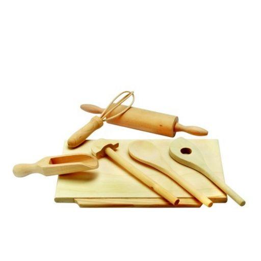 Игрушечный набор для теста и выпекания (дерево)