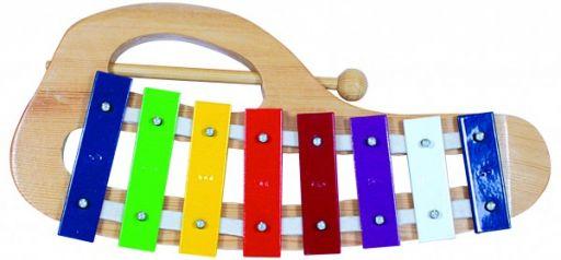 Детский ксилофон металл/дерево