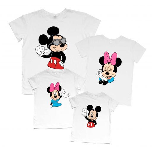 """Набор футболок Family look для большой семьи """"Mickey and Minnie"""""""