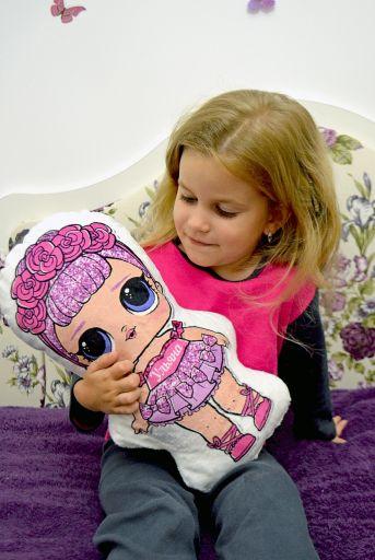 """Детская игрушка подушка кукла """"куколка LOL"""""""