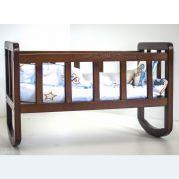 Ліжечко для ляльки (фарбоване) (горіх)