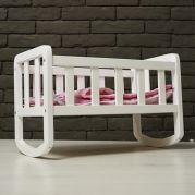 Ліжечко для ляльки (фарбоване) (біле)