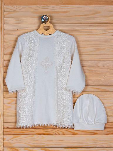 Рубашка для проведения обряда крещения кремового цвета