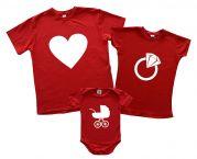 Семейный Family look набор футболок для малыша и родителей