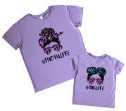 Комплект футболок для мамы и дочки #LIFE