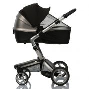 Двойной защитный козырек в коляску + черная москитная сетка Must Have Shade