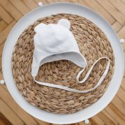 "Велюровая шапка ""Tessera"", молочная"