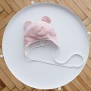 """Велюровая шапка """"Tessera"""", розовая"""