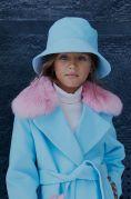 Шляпа-панама кашемир голубая
