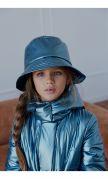 Шляпа-панама синий металлик