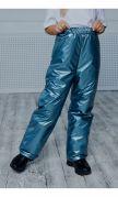Штаны утепленные голубой металлик
